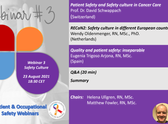 EONS Online Patient and Occupational Safety Webinar – 3