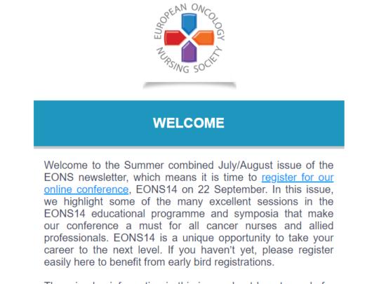 EONS Newsletter July – August 2021